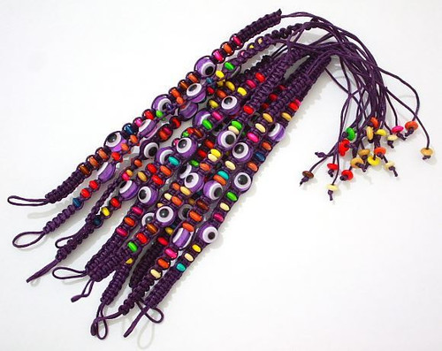 Evil Eye Purple String Ethnic Bracelets Lucky Eye Charm Bead success Bracelet