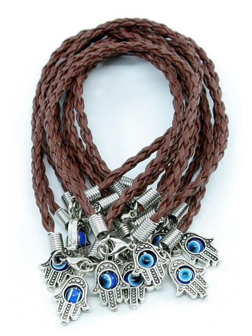 Hamsa Hand String Brown Evil Eye Lucky Spiritual Bracelets Success Protection