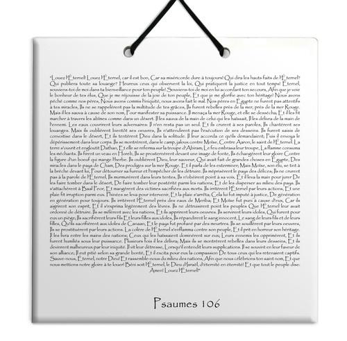 TEHILIM Psaumes Chapitre 106: Décoration Accrochage mural Torah Bible Judaica