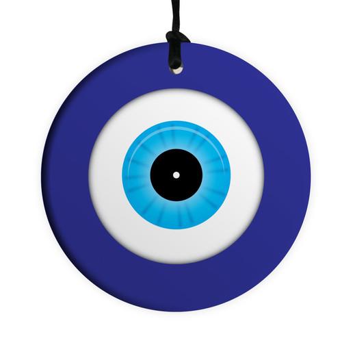 Evil Blue Eye 10CM  Ceramic Wall Hanging Lucky Kaballah judaica Jewish