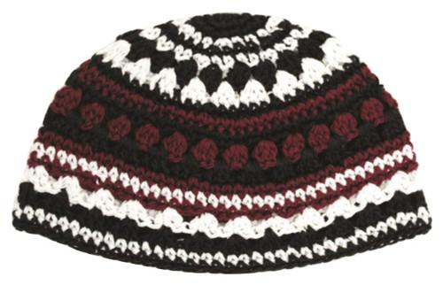 Crochet Colorful Frik cupola Hat Cap Yarmulke Knitted Tribal Jewish Yamaka Kippa
