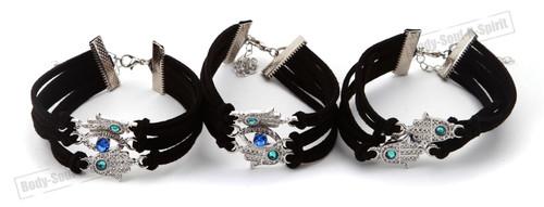 3 STRING Bracelet spiritual karma Kabbalah protection soul Hamsa Lucky Success