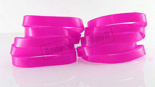 Blank Pink Silicone Wristband powerful Rubber Bracelet good karma Bangle gift