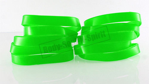 Blank Green Silicone Wristband powerful Rubber Bracelet good karma Bangle gift