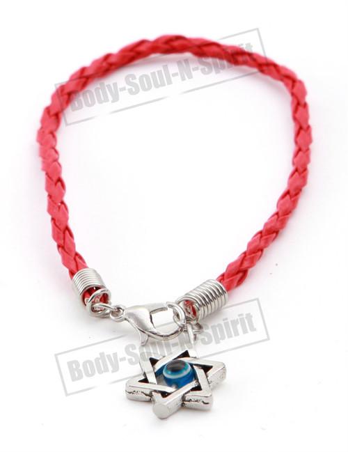 Holy Red String Lucky Charm Bracelet Star David Pendant Kabbalah Jewish Jewelry