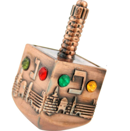 Children Kids toy Gift Jewish Hanukah Dreidel Tradition Judaica Israel Holiday