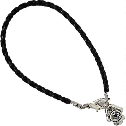 BLACK Braided String Bracelet Lucky Charm Hamsa Pendant Kabbalah Jewish Jewelry