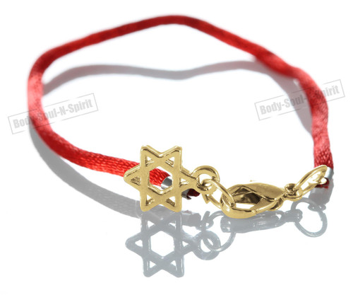 Jewish Lucky Charm Red String Bracelets Star of David Pendant Kabbalah holy GIFT