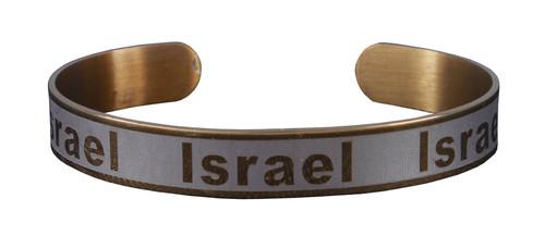 Holy spiritual Israel gift Bracelet Stainless Wrist cuff Jewish Metal rhoduim