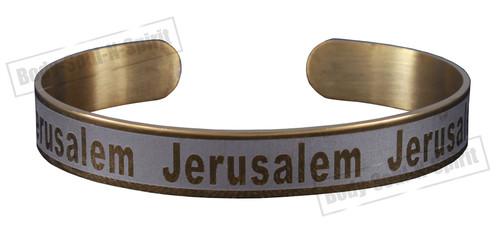 Jerusalem rhodium Bracelet Stainless Wrist cuff Jewish Holy spiritual Kabbalah
