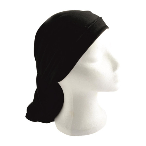 BLACK Jewish Pre-Tied women's Cloth Head inner Scarf Cover cap 200*40 cm Bandana