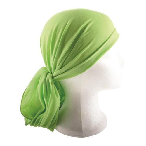 Green Jewish Pre-Tied women's Cloth Head inner Scarf Cover cap 200*40 cm Bandana