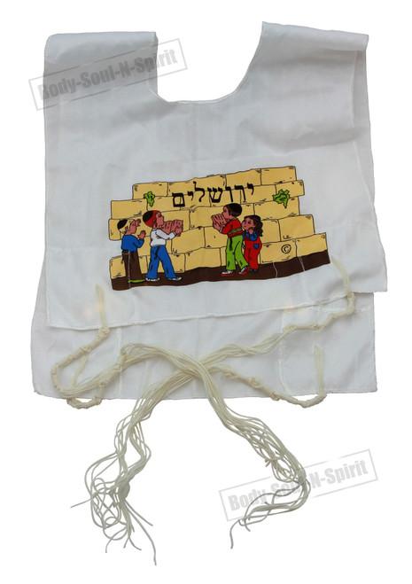 Kosher Cotton Israel Tzitzit KIDS Tsitsit Jewish boys Tallit Katan w/ tassels