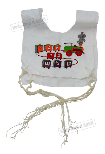 Kosher Jewish boys Tallit Cotton Israel Tzitzit KIDS Tsitsit Katan w/ tassels