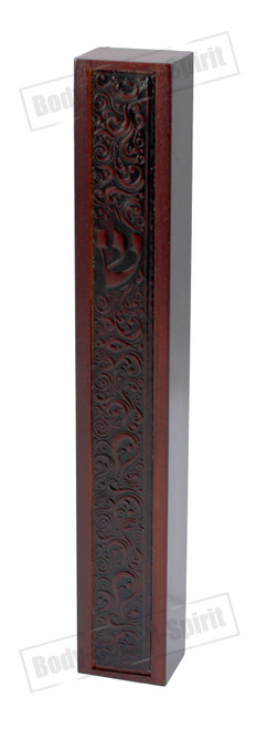 Decorated Mezuza WOOD Case 20 CM Mezzuzah Holy Jewish Israeli Judaica Gift