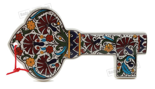 Armenian Design Ceramic Wall Hanging wealth Fortune key Prosperity Judaica gift