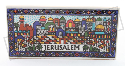 Armenian JERUSALEM view Ceramic Design Wall Hanging Israel Judaica gift