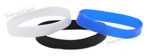 3 Protection Blank Silicone Wrist powerful Rubber Bracelet karma Success gift