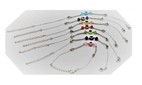 7 LUCKY karma MIX Evil Eye Protection Bead Bangle Cuff Bracelet Wrist Kabbalah
