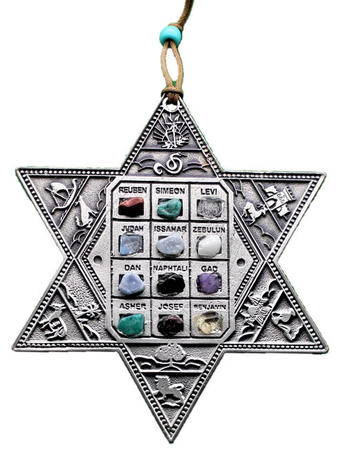 Jewish souvenir Star of David Magen Messianic Hoshen Stone Success Wall Hang soul positive energy Gift