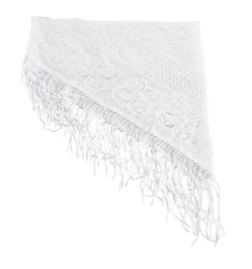 WHITE Jewish Pre-Tied women's Cloth Head inner religious Cover Fabric cap