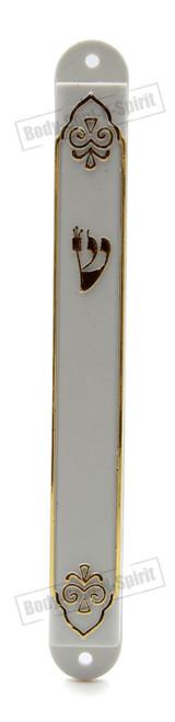 Holy White shaddi Mezuzah Mezuza Case 12cm Judaica Jewish classic Plastic Design