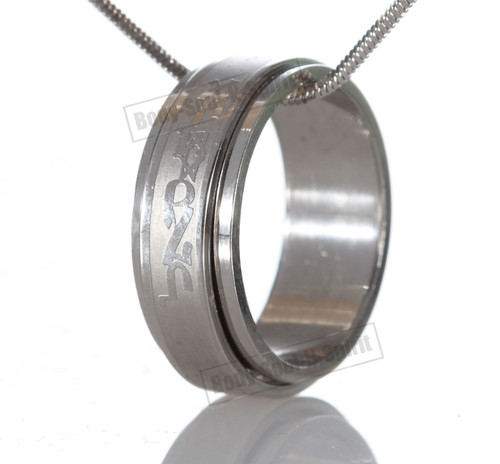 Ring Hoop Circle Pendant Stylish Silver Necklace Fashion Jewelry