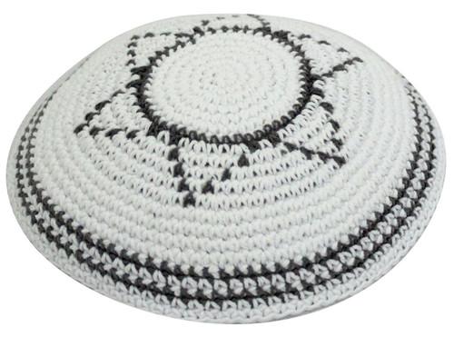 Classic Magen star of David Knitted Yarmulke Tribal Jewish Yamaka Kippa holy cap