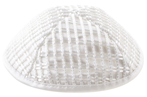 White Net form 19cm Yarmulke Tribal Jewish Hat Holy Israel covering kippa Cap