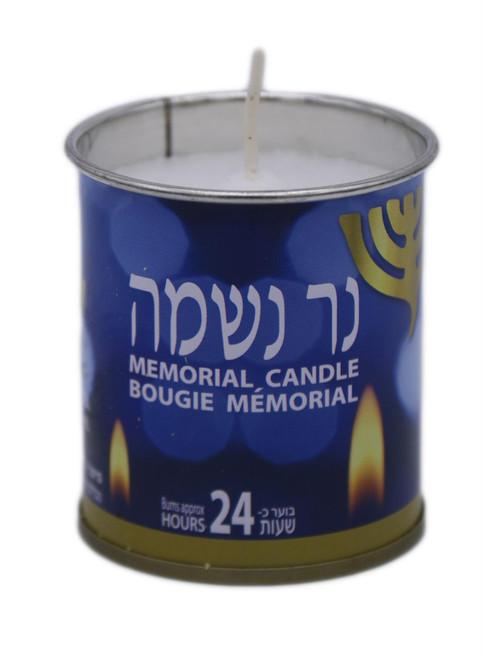 """Israel candle Kosher Jewish classic NER NESHAMA """"soul candle"""" 24 Hrs"""