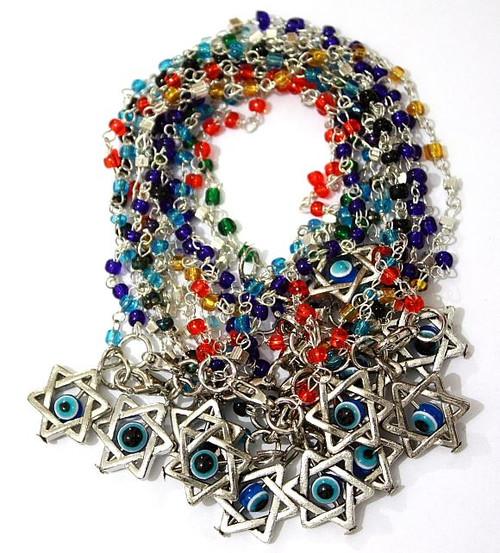 Israel Jewish Judaica Jewelry LUCKY EYE Star of David Beaded spiritual Bracelets