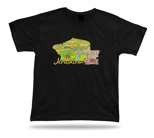 jerusalem old city Dome of the Rock Gethsemane WesternWall Tower of David tshirt
