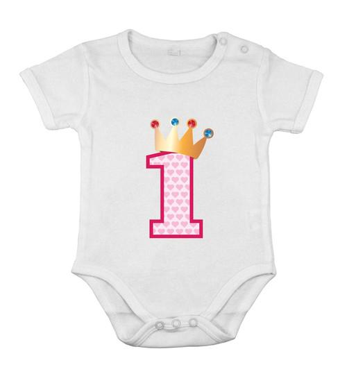 First 1nd Birthday Babygrow Cotton Girl Newborn Romper Shower One-piece princess
