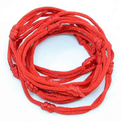 12 Red Hand Made Lucky String Kabbalah Bangle Bracelets success luck Bracelet