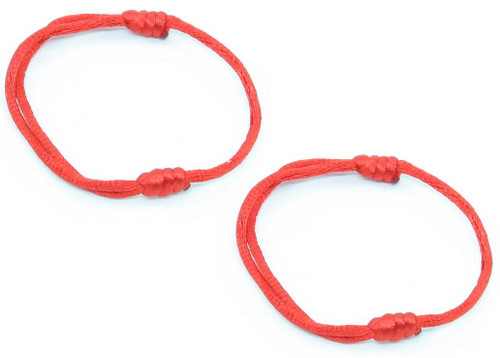 2 Red Hand Made Lucky String kabala Bangle Bracelet success Urban Fashion Wrap