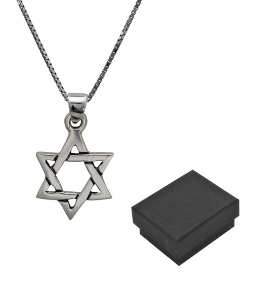 925 Silver Sterling Holy Star of David Unisex Accessory