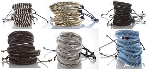Braided Leather Bracelet Cuff Bangle Wristband surfer Stylish Accessory gift