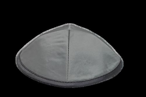 Gray dome Satin Kippah Yarmulke Traditional Jewish Yamaka Holy Head hat Cover
