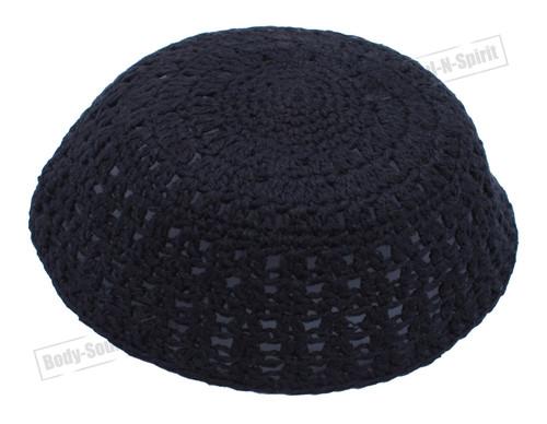 Black Jewish Holy sacred cupola Yarmulke Knitted Yamaka Kippa Hat Covering Cap