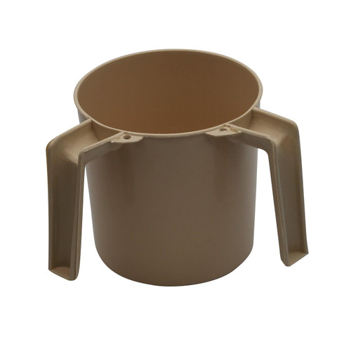 Beige Plastic Jewish Hand Washing Cup NETILAT YADAYIM Israel Shabbat Judaica