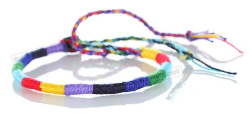 Friendship Gay color Handmade HANDCRAFT hand or leg Adjustable String Bracelet