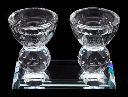 Holy Special Judaica Jewish Crystal shabbat Sabbath Shabbos Candlesticks Gift