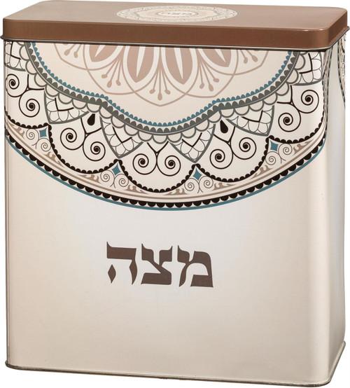 Jewish PASSOVER Seder Tin Box Matzoh Matza  Israel Pesach Holyland Holiday Dish