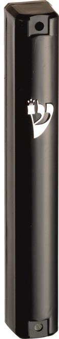 Classic Black Shaddi Plastic Design Mezuzah Mezuza Case 12cm Judaica Jewish