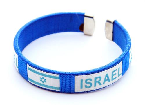 Israel Flag Star of David Bangle Cuff Bracelet Jewish Jewelry holy souvenir gift