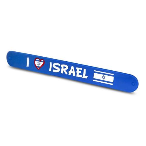 Blue Silicone Wrist I love Israel flag soft Rubber Bracelet Jewish souvenir Holy gift