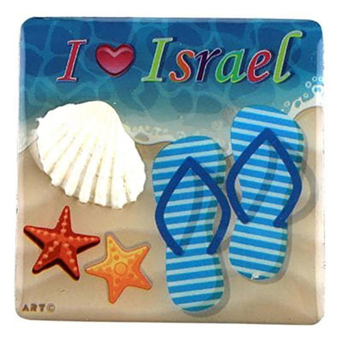 I Love Israel Sea Shell Magnet Special signs Gift