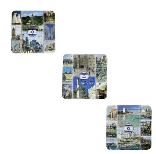 3 Puzzles 14*14 cm- Israel Sites: Haifa, Dead Sea, Jerusalem best idea gift