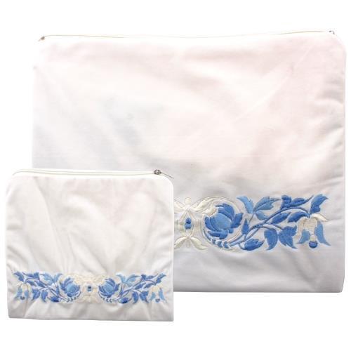 Tallit & Tefillin Prayer Cover Carry bag set Flowers Classic Talis