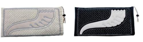 Velvet Shofar Bag pouch Embroidered with Shofar & Silver Patern Judaica Gift